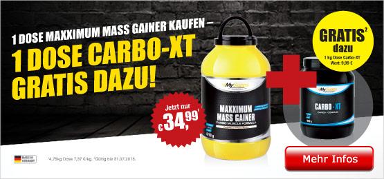 BBSz Maxximum Mass Gainer + Carbo XT JUL15
