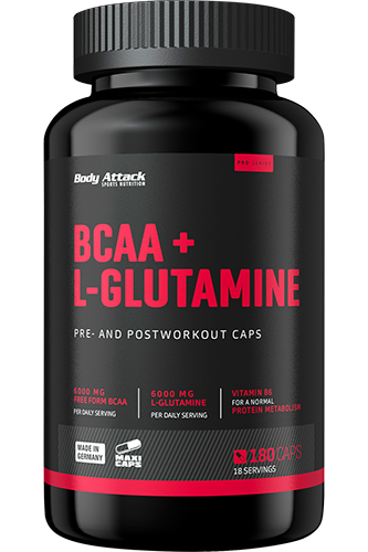 Body Attack BCAA + Glutaminsäure 12000 - 180 Caps