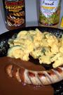 Fitness-Rezept - Barbecue-Rostbratwurst mit Kartoffelsalat
