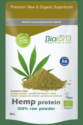 Biotona Hemp Protein 100% Raw Powder - 300g