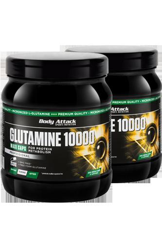 Body Attack Glutamine 10000 - 300 Caps Doppel-Pack