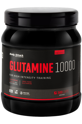 Body Attack Glutamine 10000 - 300 Caps