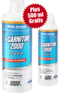 Body Attack L-Carnitine Liquid 2000 - 1000ml + 500ml Gratis