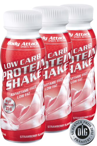 Body Attack Low Carb Protein Shake 3x 250ml
