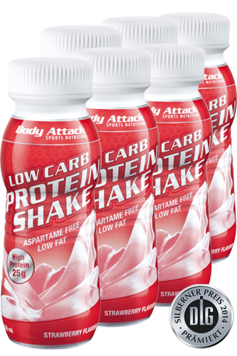 Body Attack Low Carb Protein Shake 6x 250ml