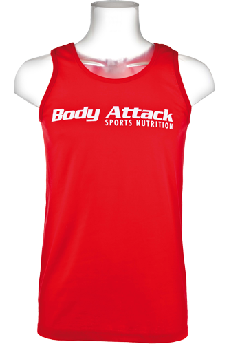 Body Attack Muscle-Shirt red
