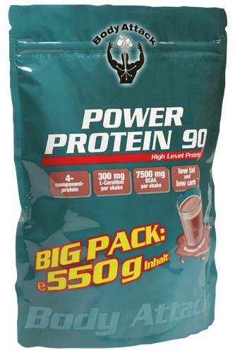 Body Attack Power Protein 90 Big Pack - 550g Aktion