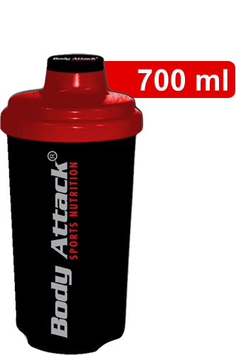 Body Attack Protein Shaker - Black-Red