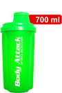 Body Attack Protein Shaker - neon green