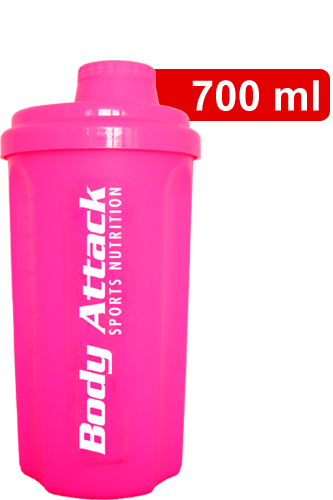 Body Attack Protein Shaker - neon pink
