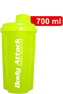 Body Attack Protein Shaker - neon yellow