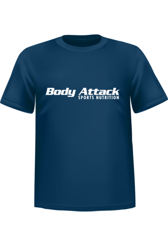 Body Attack Sports Nutrition T-Shirt - blue