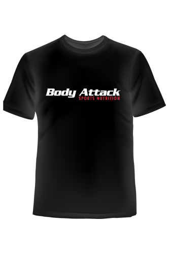 Body Attack Sports Nutrition T-Shirt schwarz