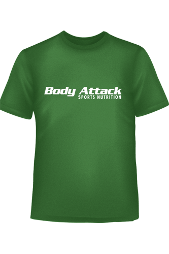 Body Attack Sports Nutrition T-Shirt gr�n