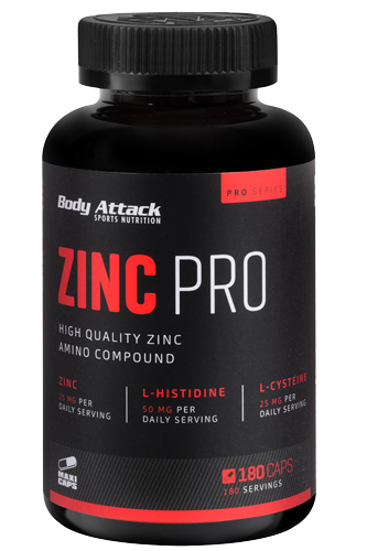 Body Attack Zinc PRO - 180 Caps