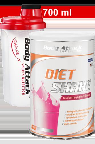 Diät Shake + Shaker transparent rot