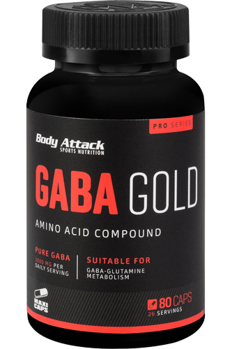 Body Attack GABA Gold - 80 Caps