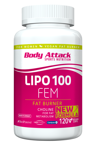 Body Attack LIPO 100-FEM - 120 Caps