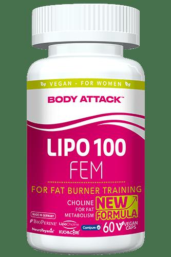 Body Attack LIPO 100-FEM - 60 Caps