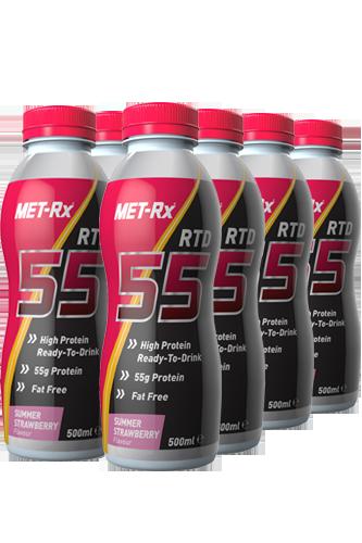 MET-Rx RTD 55 Protein Drink 8x 500ml