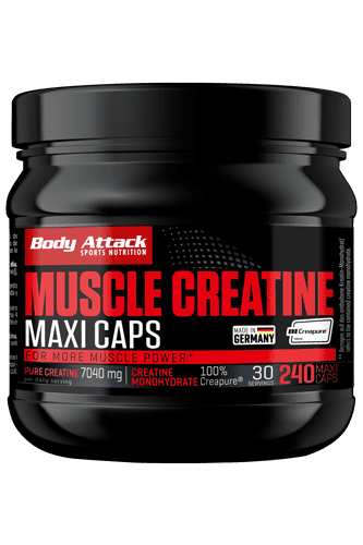 Body Attack Muscle Creatine - 240 Maxi-Caps (Creapure�)