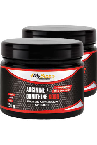 My Supps Arginine + Ornithine 6000 - 250g Doppel-Pack