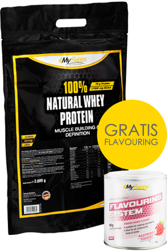 My Supps 100% Natural Whey Protein 2kg + Flavouring 90g