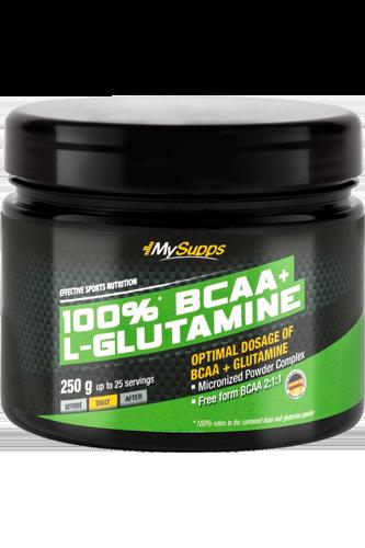 My Supps 100% BCAA plus Glutaminsäure - 250g