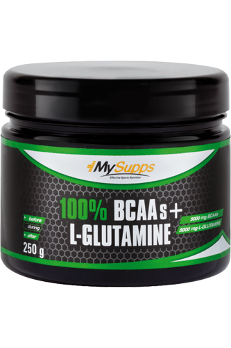 My Supps 100% Pure BCAA plus L-Glutamine 250g