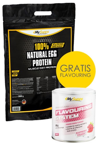 My Supps 100% Natural Egg Protein 2kg + Flavour...