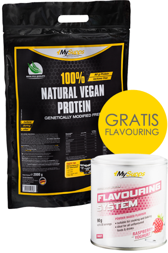 My Supps 100% Natural Vegan Protein 2 kg+ Flavo...