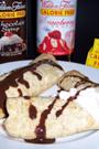 Fitness-Rezept - Pfannkuchen mit Fruchtquark & Schokosauce