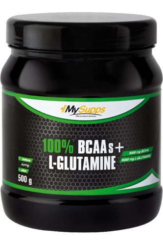 My Supps 100% Pure BCAA plus L-Glutamine 500g