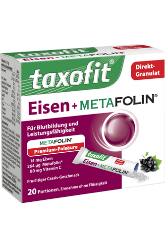 Taxofit Eisen + Metafolin Direkt Granulat - 20 Portionen