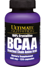 Ultimate Nutrition BCAA 100% Crystaline 120 Caps