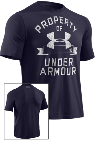 Under Armour Property of Under Armour T-Shirt navy