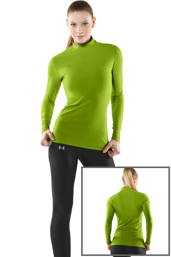 Under Armour COLDGEAR MOCK SHIRT green