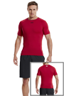 Under Armour HG SONIC COMPRESSION SS T red