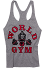 World Gym Classic Stringer Tank Top grey