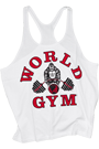 World Gym Classic Stringer Tank Top white