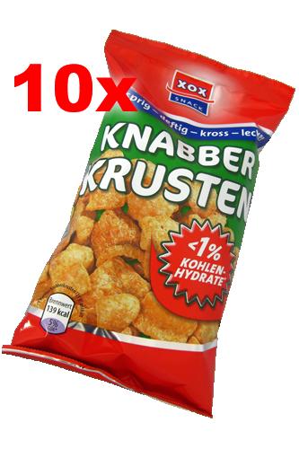 XOX Knabber Krusten - 50g 10 Packs