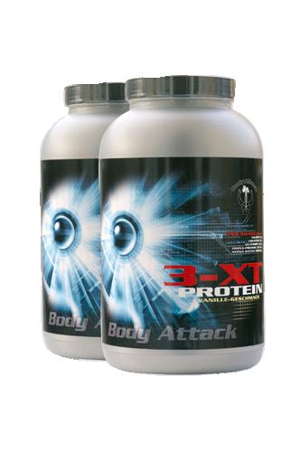 Body Attack 3-XT Protein - 900 g - 2 Dosen