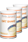 Body Attack Di�t Shake Vanille 440g - 3er Pack plus Shaker