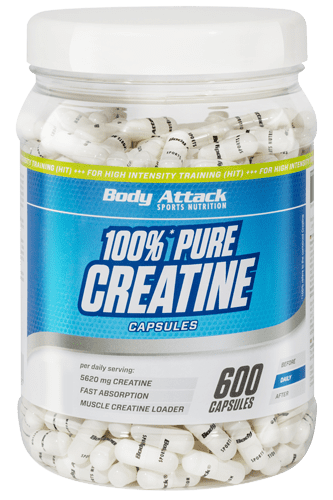 Body Attack Pure Creatine - 600 Caps