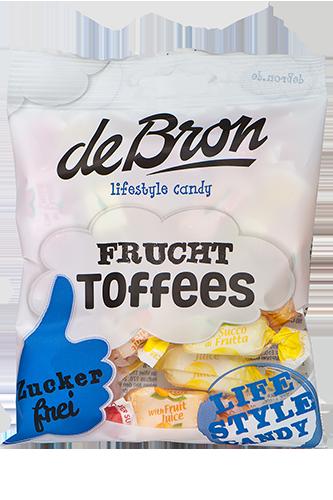 de Bron Low Sugar Frucht-Toffee - 90g