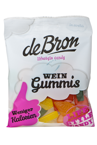 de Bron Low Sugar Wine Gums - 100g