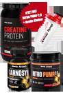 HARDCOREPAKET: 3-XT Protein, Nitro Pump 2.0 & Carnosyn