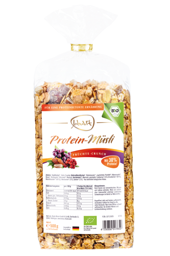 JabuVit Protein-M�sli Fr�chte-Crunch 500g