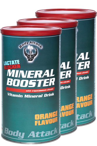 Body Attack Mineral Booster - 800g - 3 Dosen