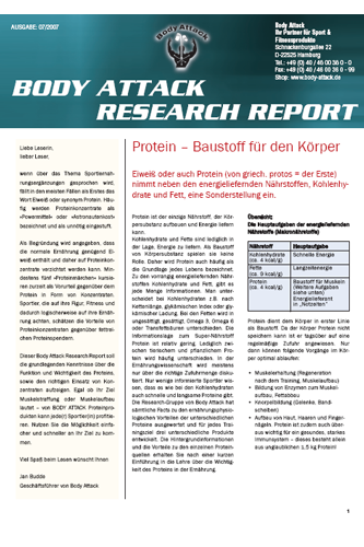 Body Attack Research Report - Protein